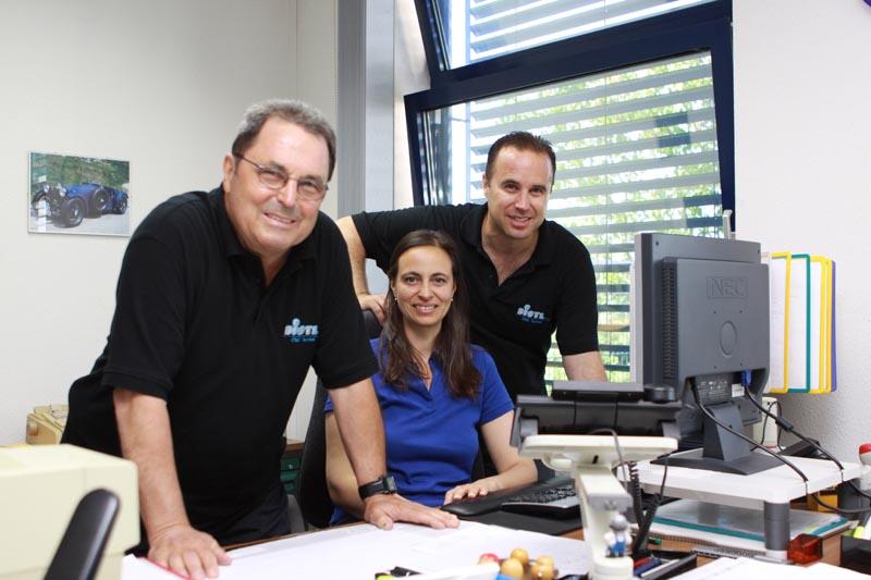 Anton Distl, Daniela Distl, Sascha Distl (von links)